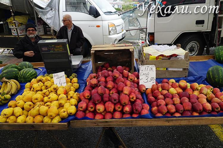 Стоимость продуктов в Алании. Продуктовый рынок.