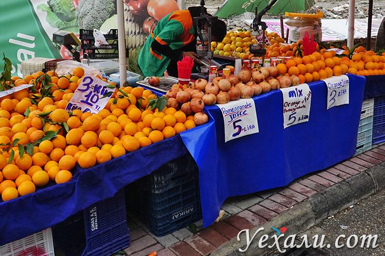 Пятничный рынок в Алании, Турция. Фото цен.