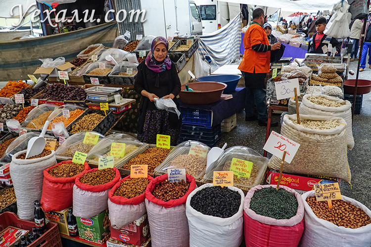 Пятничный рынок в Аланье, Турция. Фото цен.