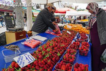 Пятничный рынок в Алании, Турция.
