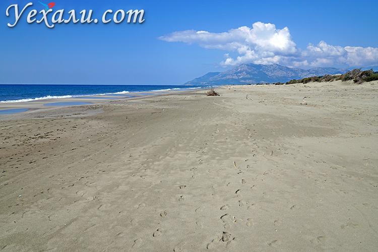 Как выглядят самые красивые пляжи Турции без туристов: пляж Патара.
