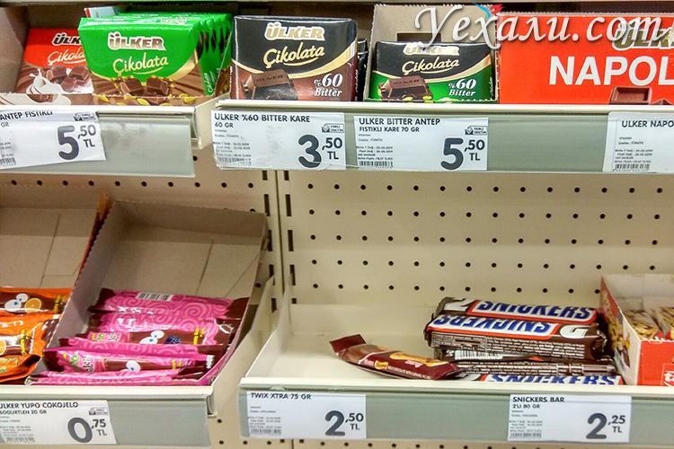 На фото: цены на еду в Алании.