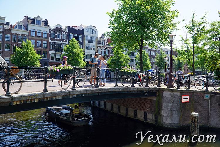 Фото каналов и мостов в Амстердаме