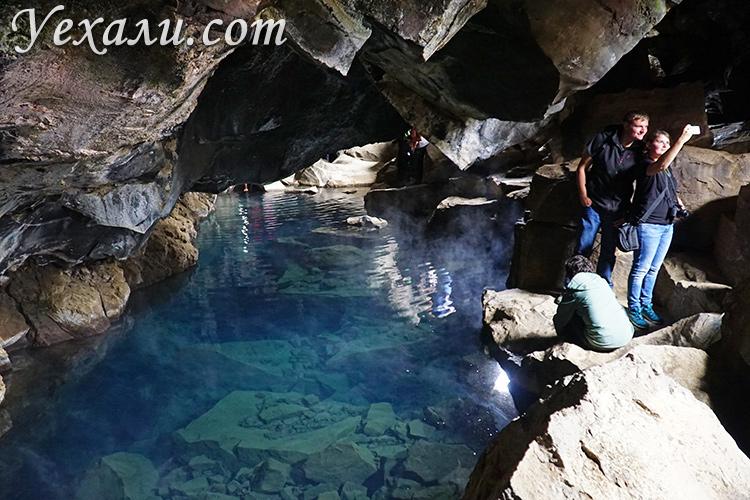 Где снимали Игру престолов в Исландии. На фото: пещера Грьётагья.