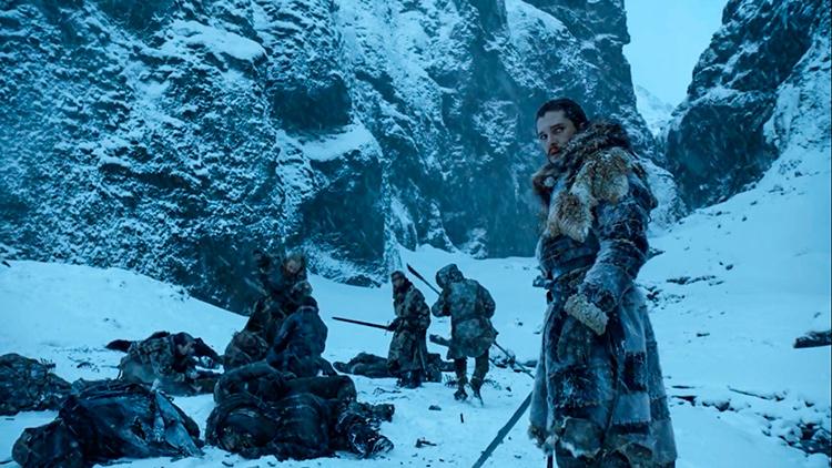 Места съемок Игры престолов в Исландии: Джон в каньоне Fjadrargljufur.