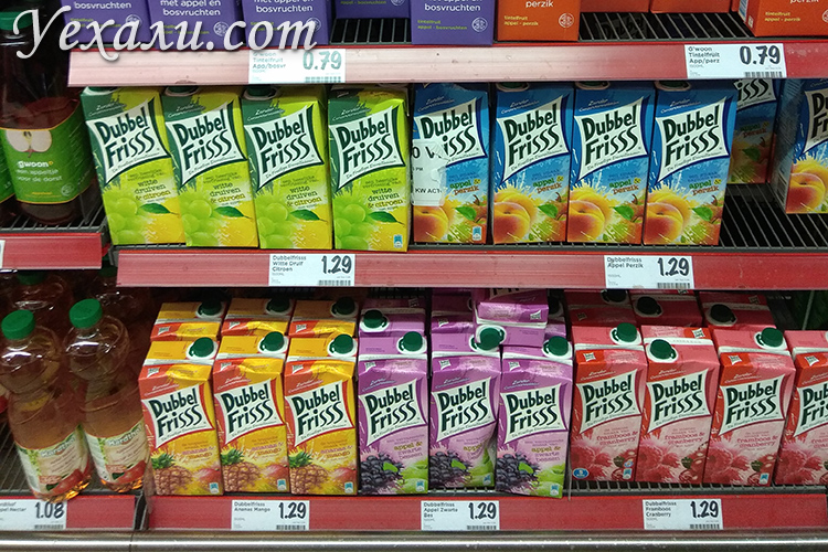 Цены в продуктовых магазинах Голландии