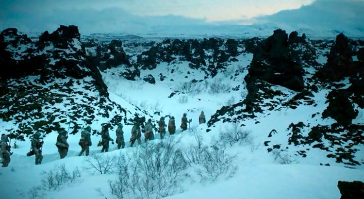 """Лавовые поля Диммуборгир, Исландия, в сериале """"Игра престолов""""."""