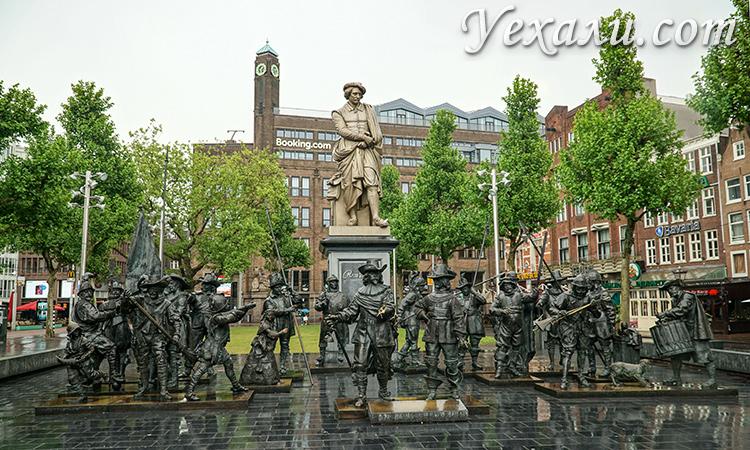 Площадь Рембрандта в Амстердаме.