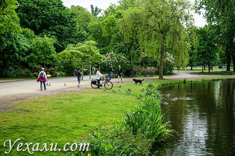 Парк Вондела в Амстердаме, Нидерланды.