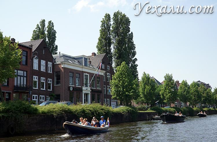 Катание на лодках в Голландии