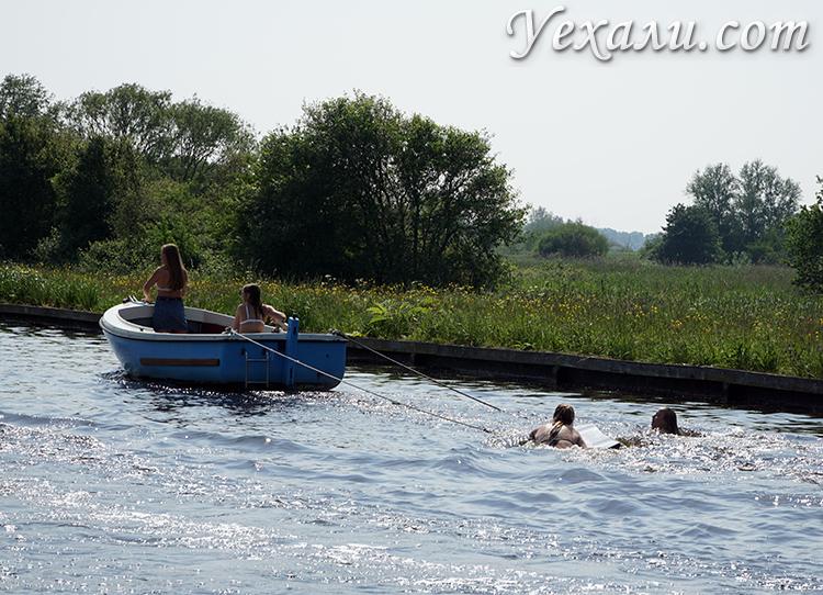 Купание в каналах, Голландия