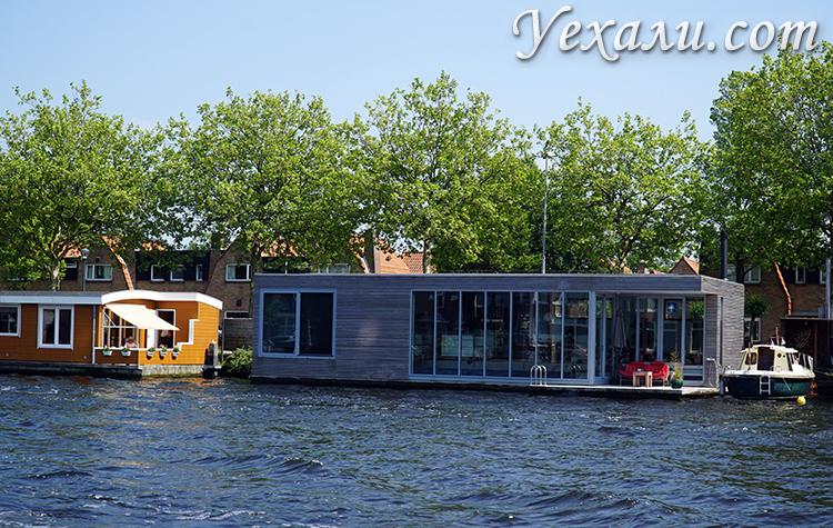 Дома на воде в городах Нидерландов