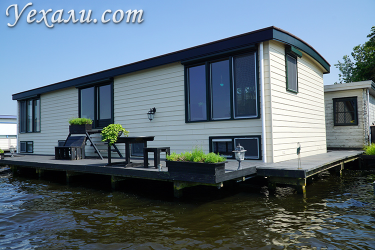 Дома на воде в Нидерландах, много фото