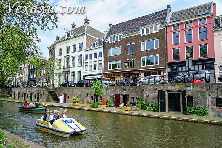 Старый канал, Утрехт, Голландия.