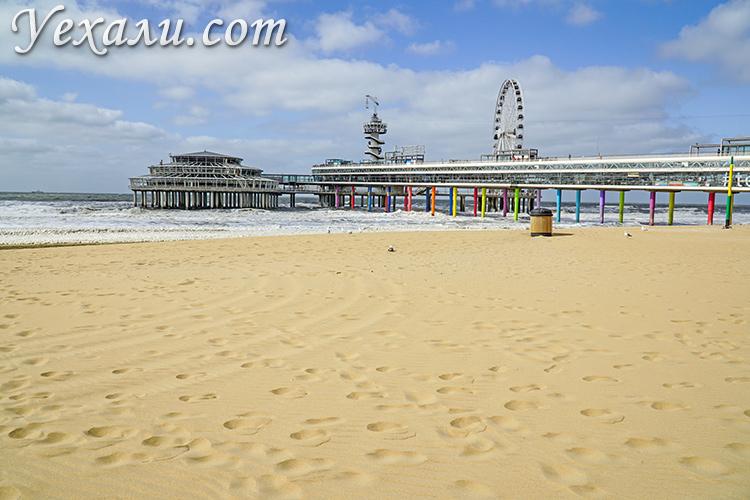 Достопримечательности Гааги. На фото: пляж Схевенингена.