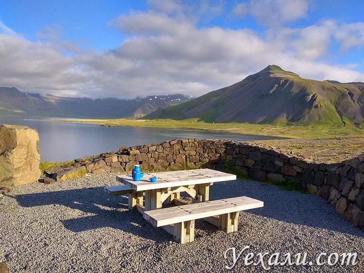 Туристические площадки для отдыха в Исландии