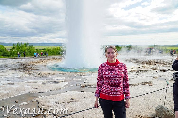 Отзывы о путешествии в Исландию. На фото: гейзер Строккур.