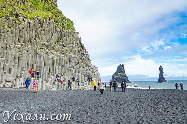 Отзывы о самостоятельном путешествии в Исландию: черный пляж Рейнисфьяра.