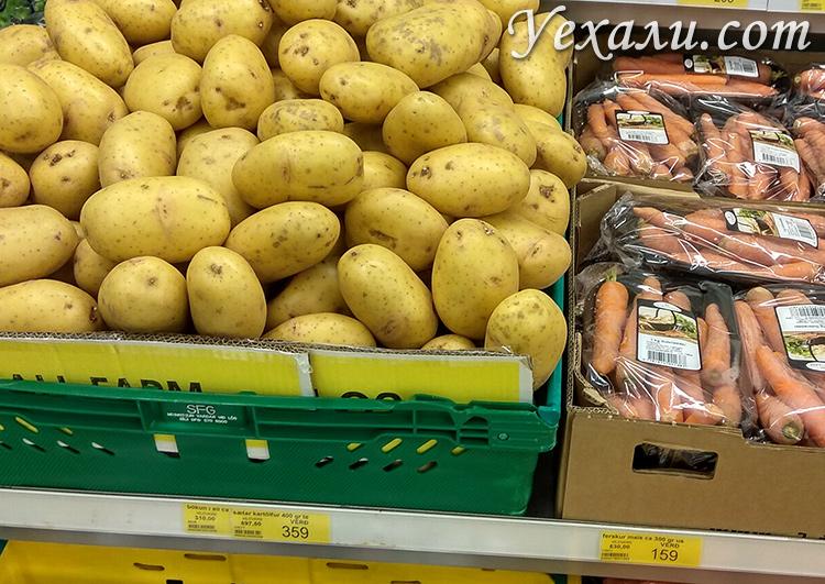 Цены на картошку в Исландии
