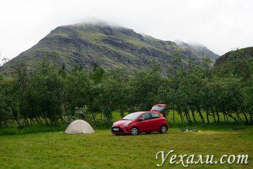 Палатки в Исландии
