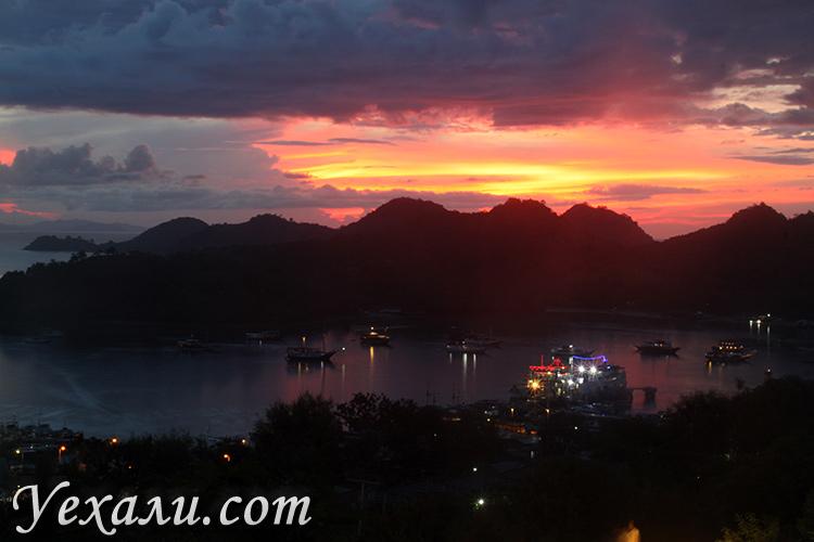 Фото закатов в Индонезии