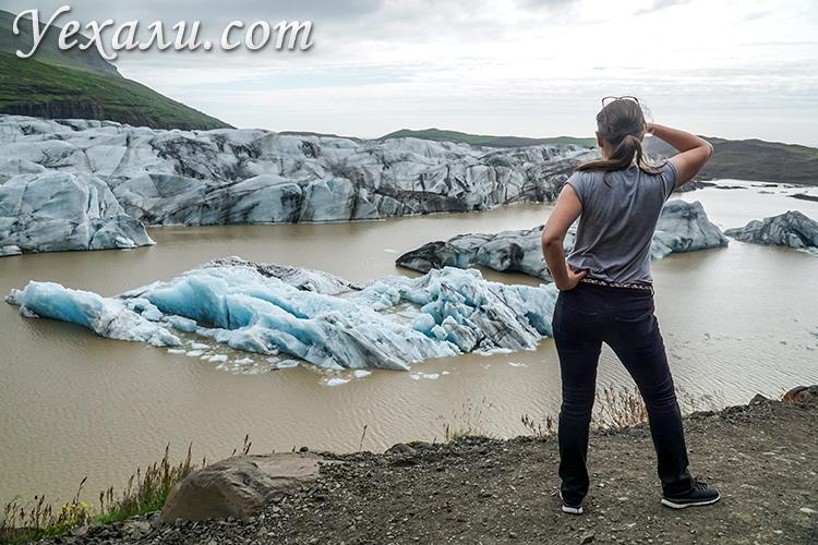 Отзывы о путешествии в Исландию. На фото: ледник Свинафелл, Ватнайекюдль.