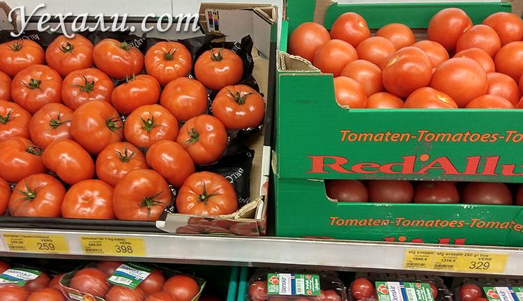Цены на помидоры в Исландии