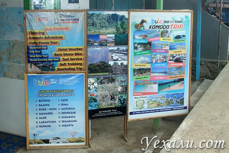 Экскурсионные агентства в Лабуан Баджо, остров Флорес, Индонезия