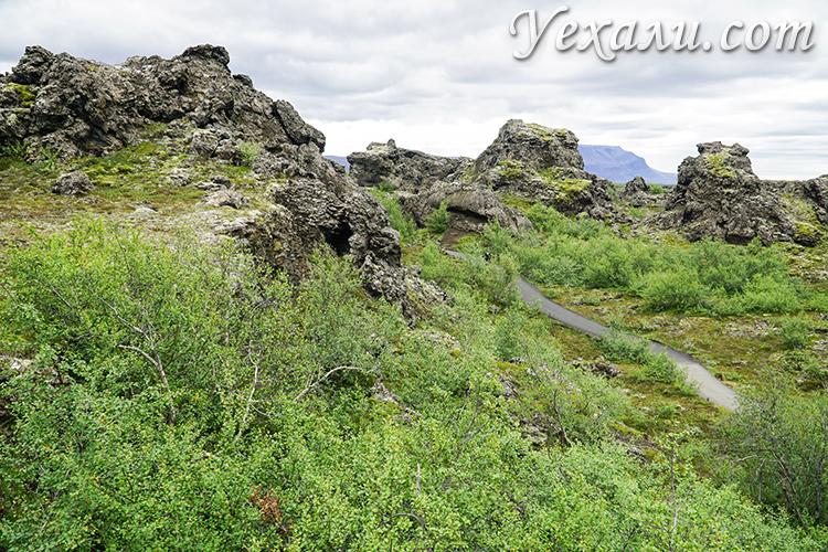 Где в Исландии снимали «Игру престолов». Лавовые поля Димму Боргир - лагерь Манса Налетчика.
