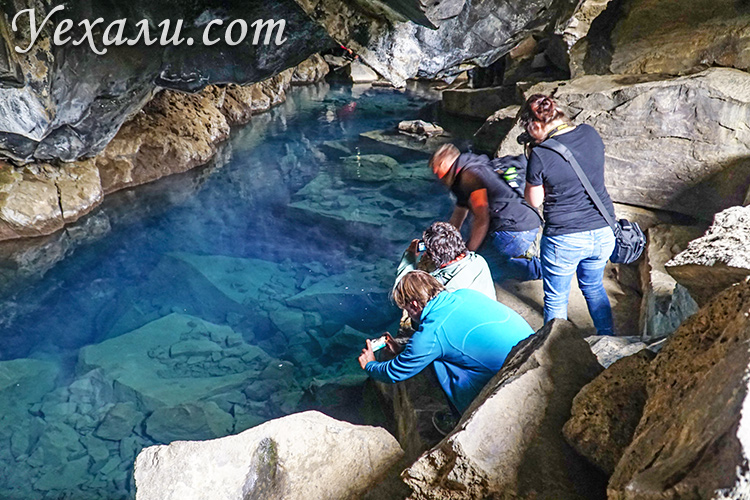 Где в Исландии снимали Игру престолов. На фото: пещера Грьётагья.