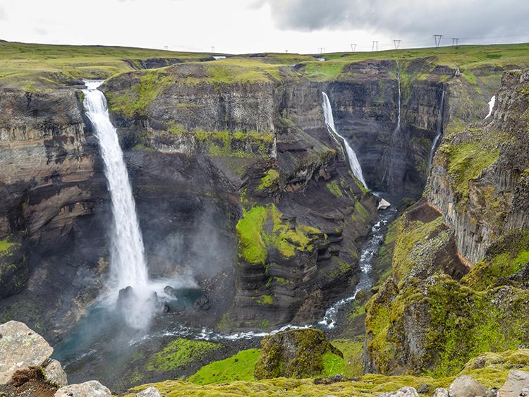 Самые красивые водопады Исландии. Хауифосс (Haifoss)