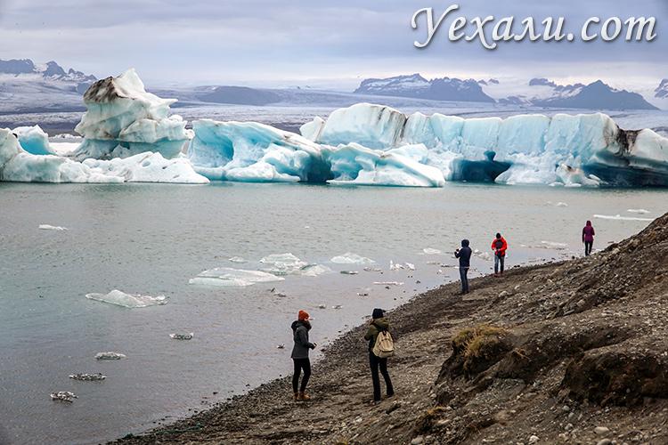 Главные достопримечательности Исландии. Ледниковая лагуна Йёкюльсаурлоун.