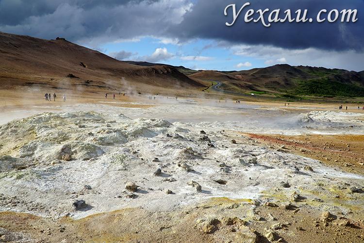Геотермальная область Крабла в Исландии