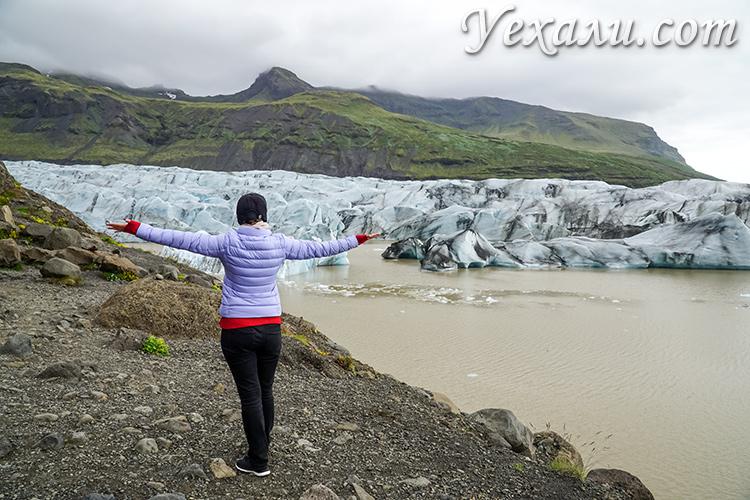 Места съемок Игры престолов в Исландии. Ледник Свинафелл.