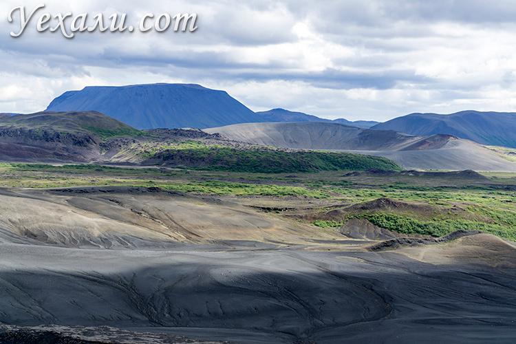 Фото с вершины вулкана Хверфьядль, Исландия.