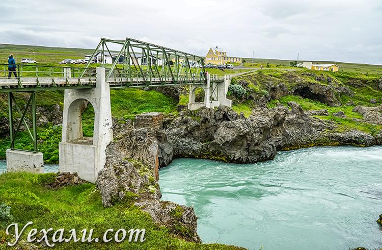 Водопад богов Годафосс, Исландия.