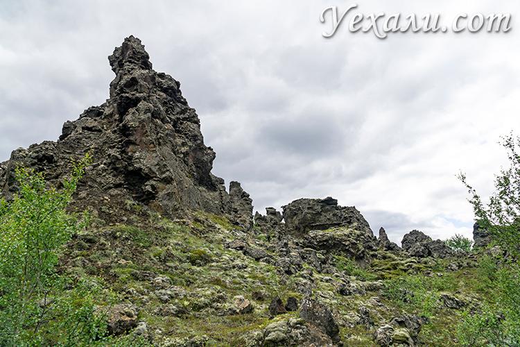 Лавовые поля Диммуборгир, Исландия.