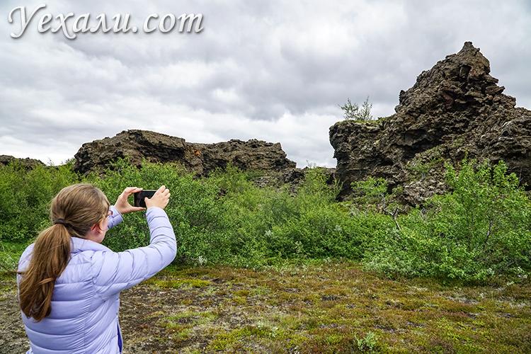 Лавовые поля Димму Боргир, Исландия.