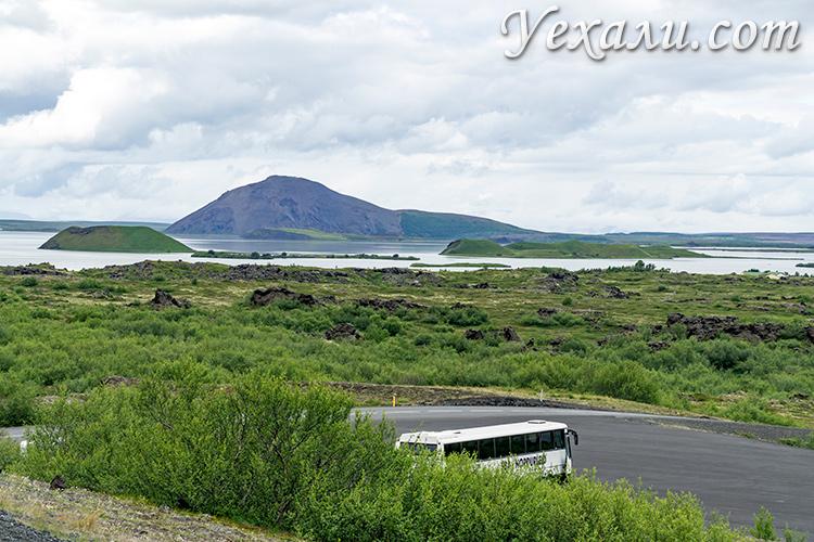 Лавовые поля Димму Боргир в Исландии.