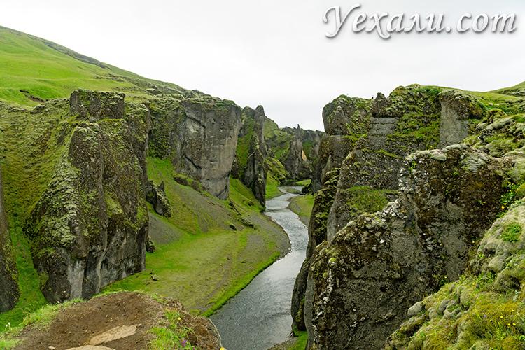 Каньон Фьядрарглйуфур, Исландия.