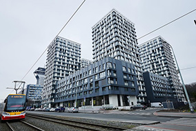 Отели Жижкова, Прага. Garden Towers Apartments.
