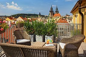 Отели в Праге в центре. Grand Hotel Bohemia.