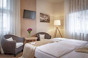 Отели Праги в районе Мала Страна. Hotel Kampa Garden.