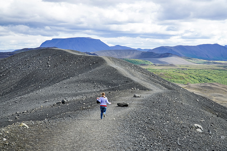 На фото: вулкан Хверфьядль, Исландия.