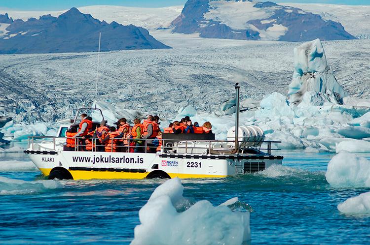 Ледниковая лагуна Йокульсарлон в Исландии.