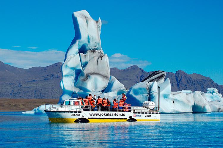 Ледяная лагуна Йокульсарлон, Исландия.