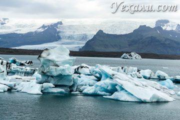 На фото: ледниковая лагуна Йокульсарлон в Исландии.