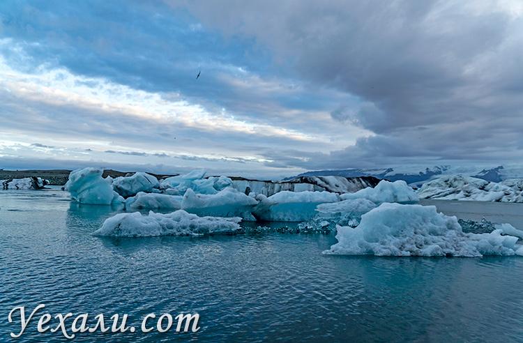 На фото: ледниковая лагуна Йекюльсаурлоун в Исландии.