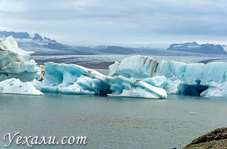 Ледниковая лагуна Йокульсарлон, Исландия.