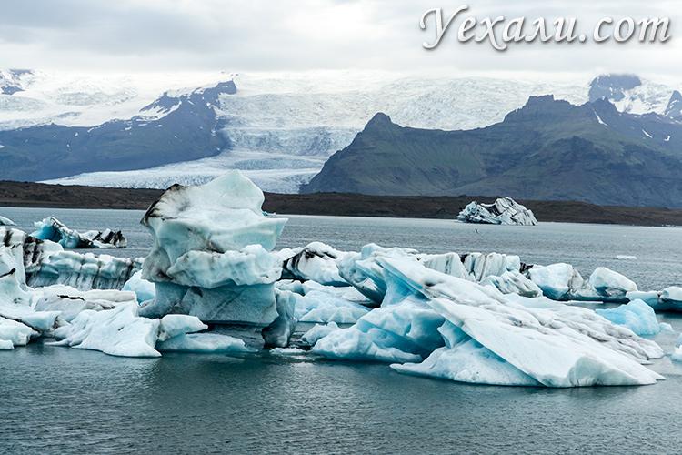 Самые красивые места Исландии: ледниковая лагуна Йокульсарлон.